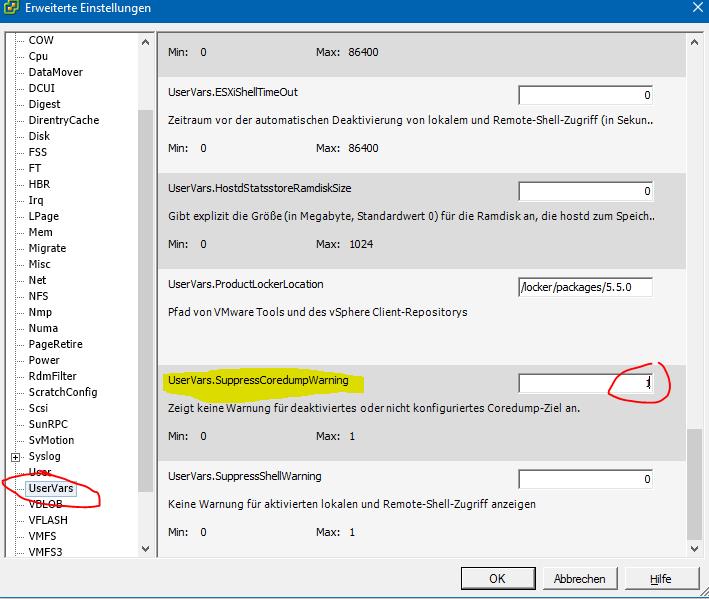 kein-coredump-ziel-konfiguriert-warnung-ausschalten