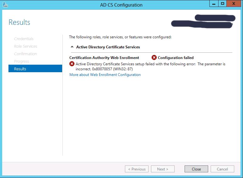 Active Directory Zertifikatsdienste Webregistrierung Fehler ...