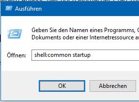 Wo ist der Windows 10 (Windows Server 2012/2016) Autostart Ordner