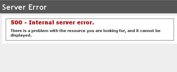 PHP Fehler 500 IIS